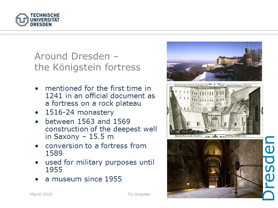 Around Dresden – the Königstein fortress
