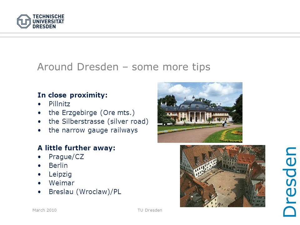 Around Dresden – some more tips