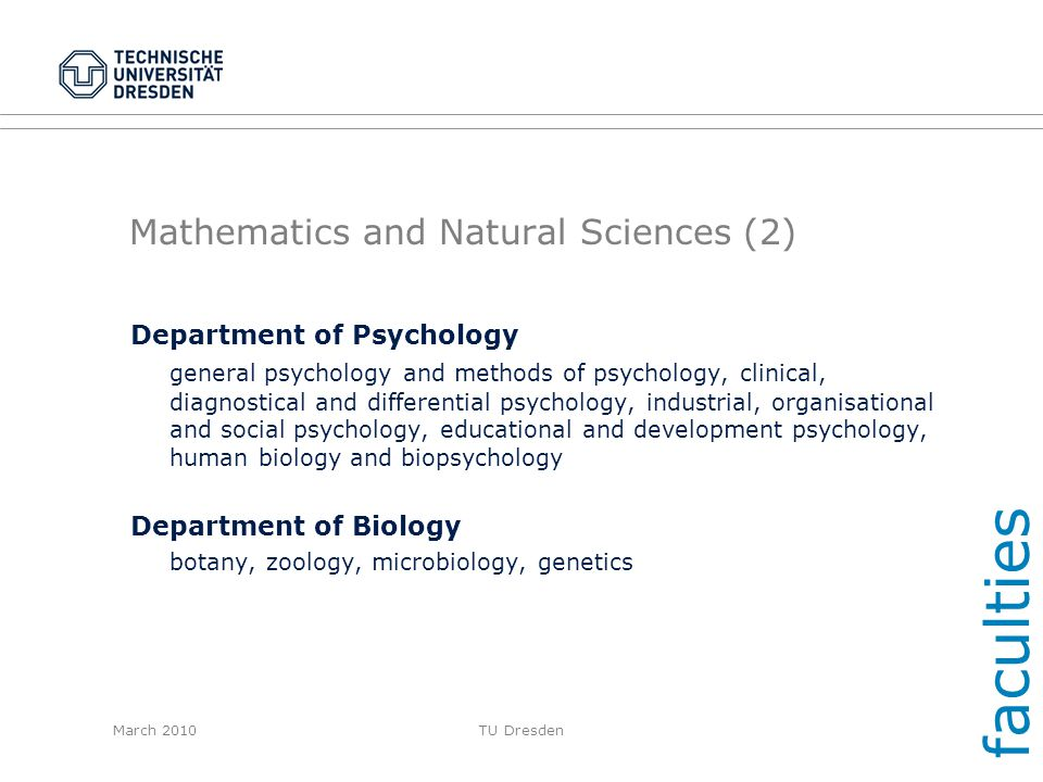 Mathematics and Natural Sciences (2)
