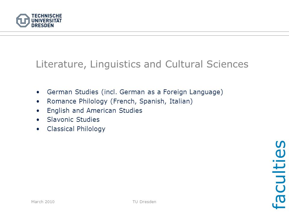 Literature, Linguistics and Cultural Sciences