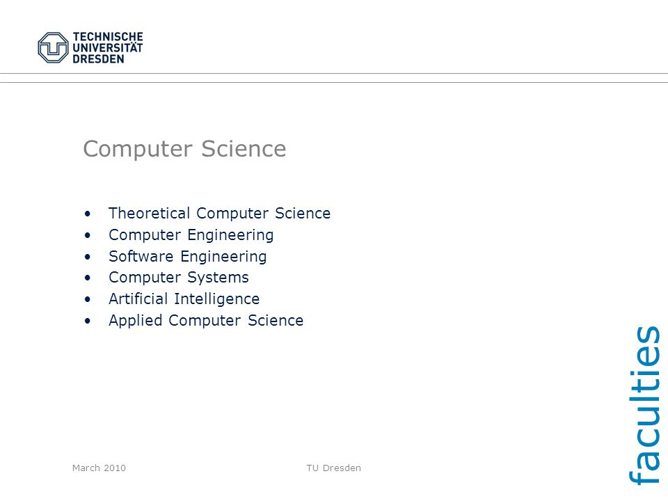 faculties Computer Science Theoretical Computer Science