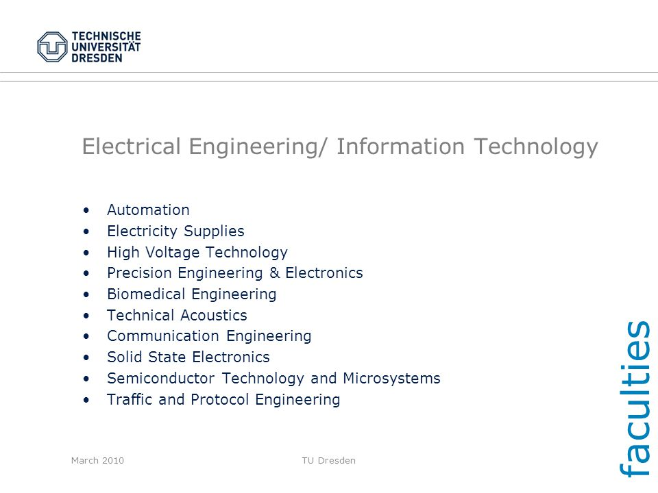 Electrical Engineering/ Information Technology