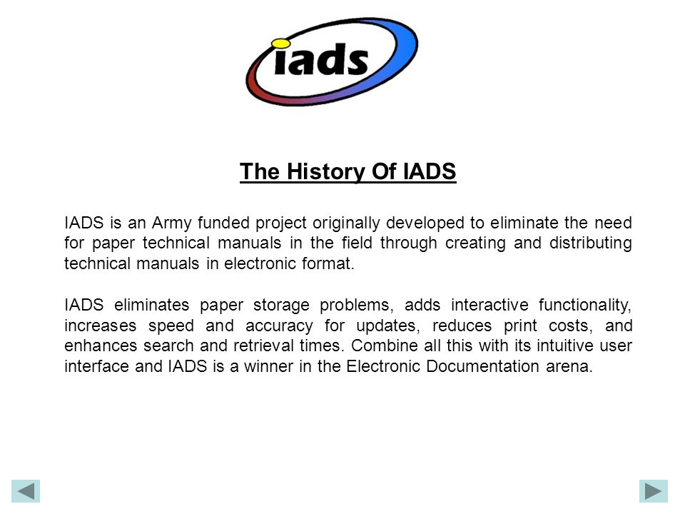 The History Of IADS