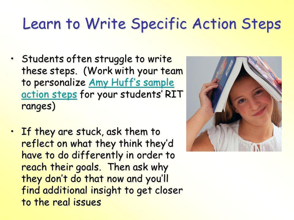 Learn to Write Specific Action Steps