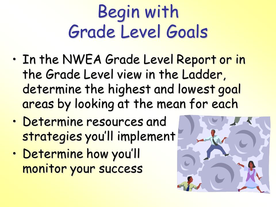 Begin with Grade Level Goals