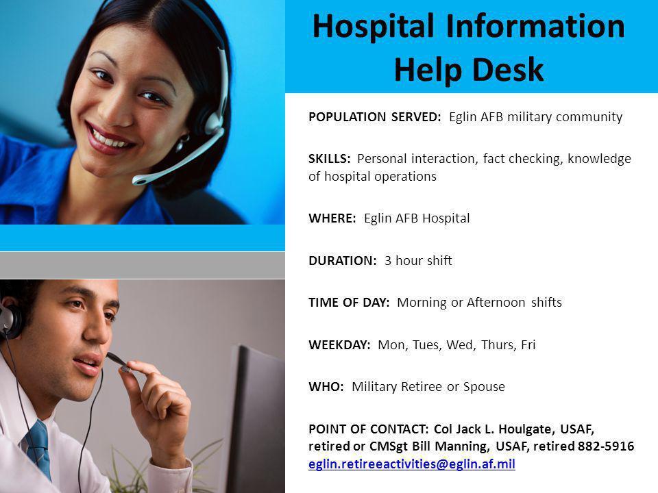 Hospital Information Help Desk