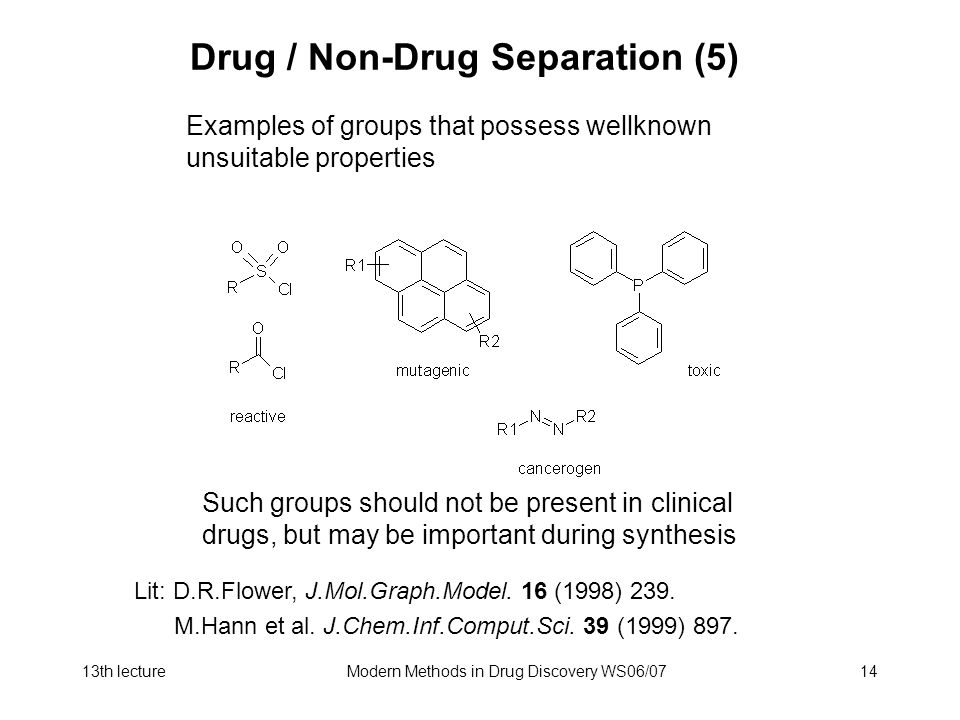 Drug / Non-Drug Separation (5)