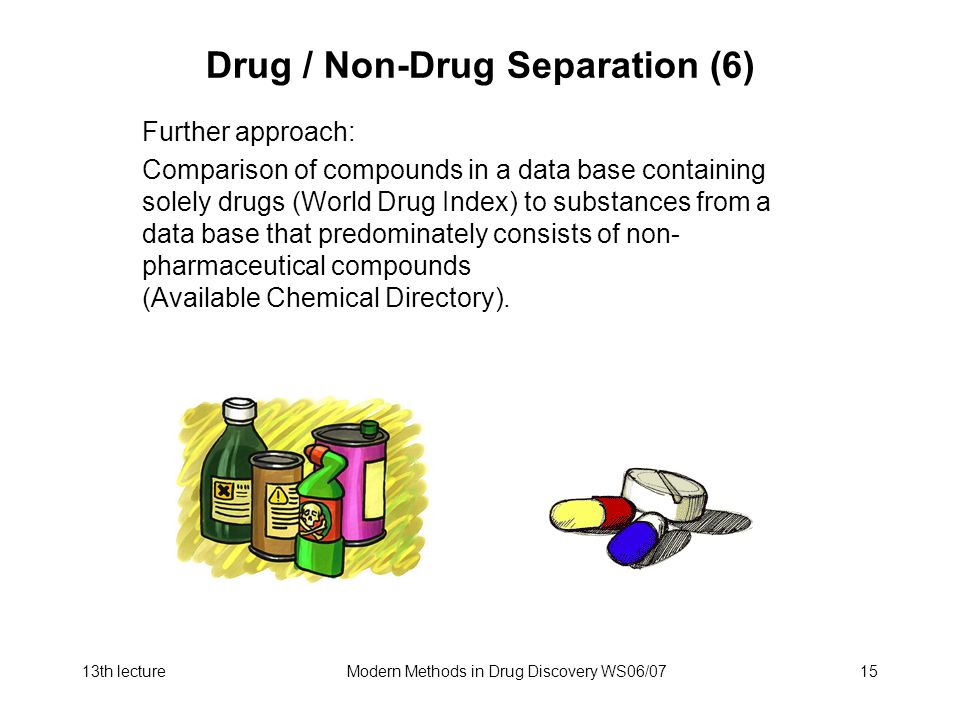 Drug / Non-Drug Separation (6)