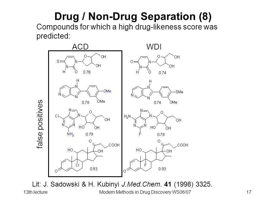 Drug / Non-Drug Separation (8)