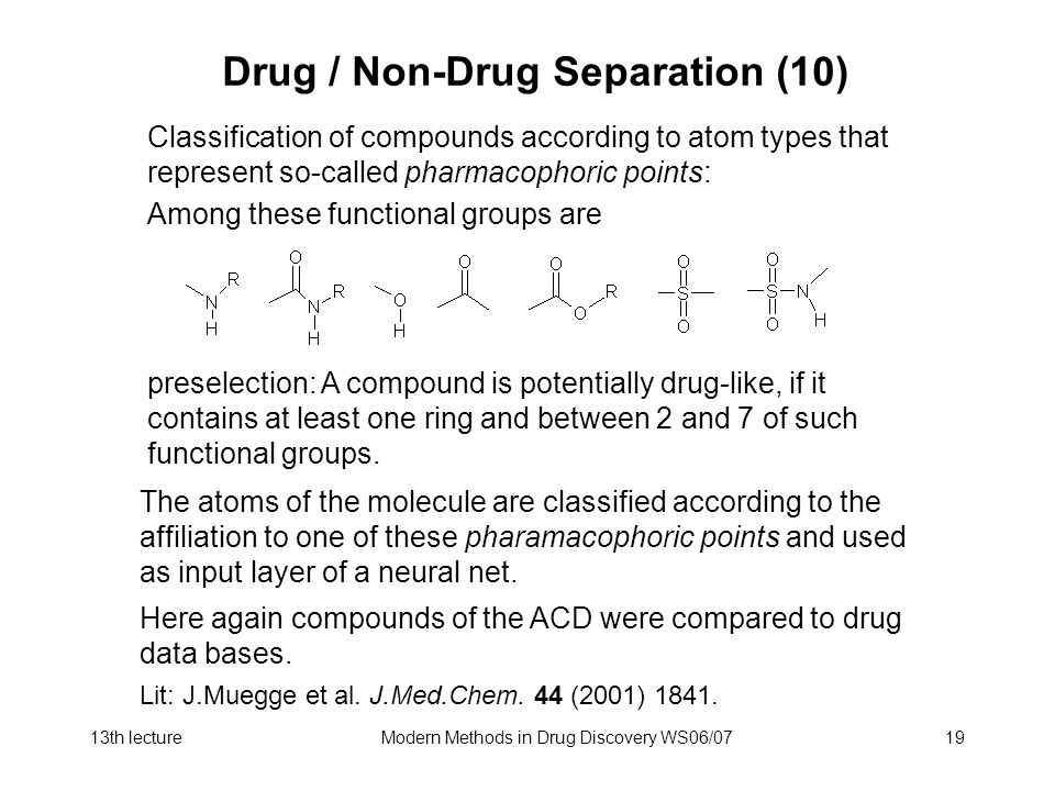 Drug / Non-Drug Separation (10)