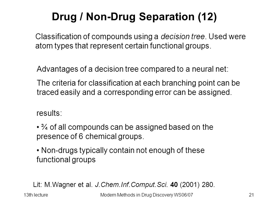 Drug / Non-Drug Separation (12)