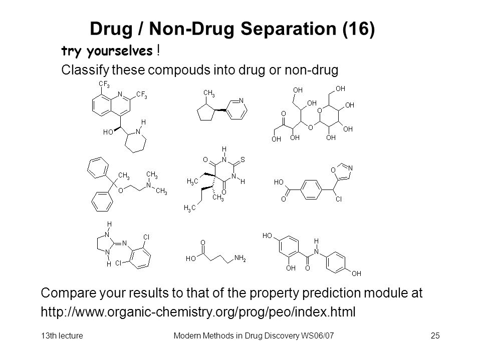 Drug / Non-Drug Separation (16)