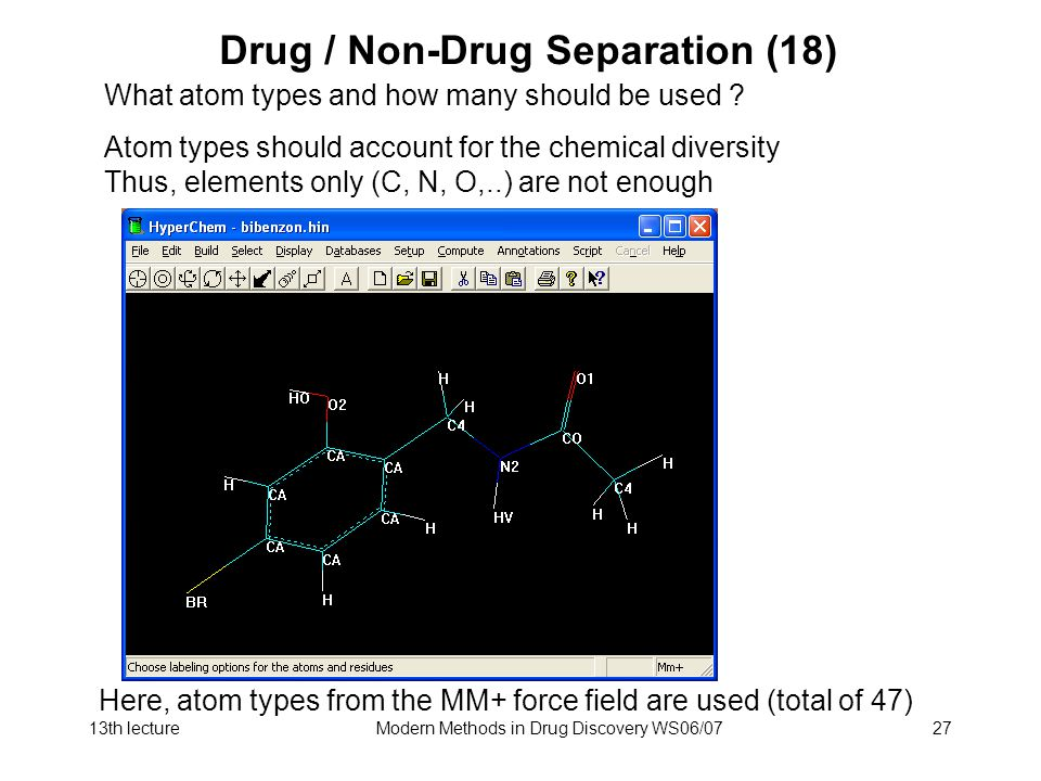 Drug / Non-Drug Separation (18)