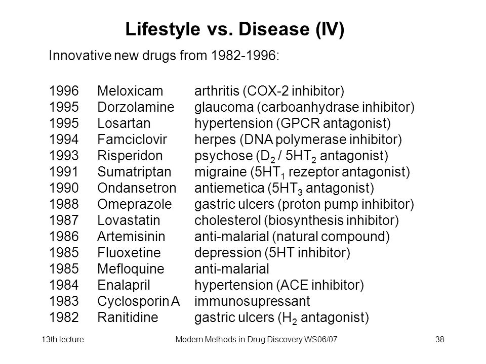 Lifestyle vs. Disease (IV)