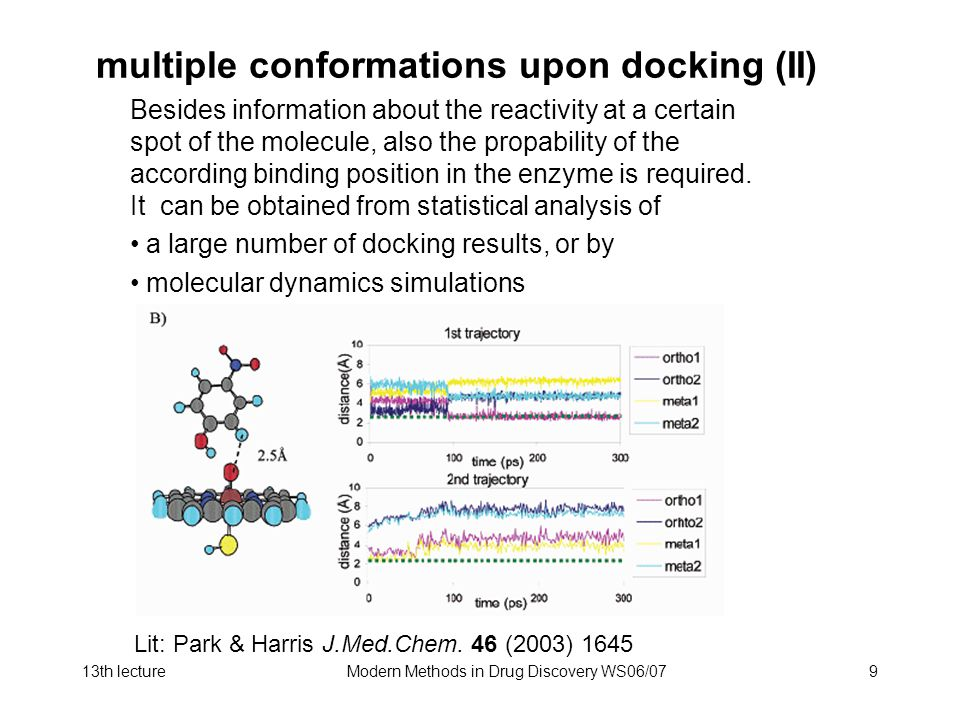 multiple conformations upon docking (II)