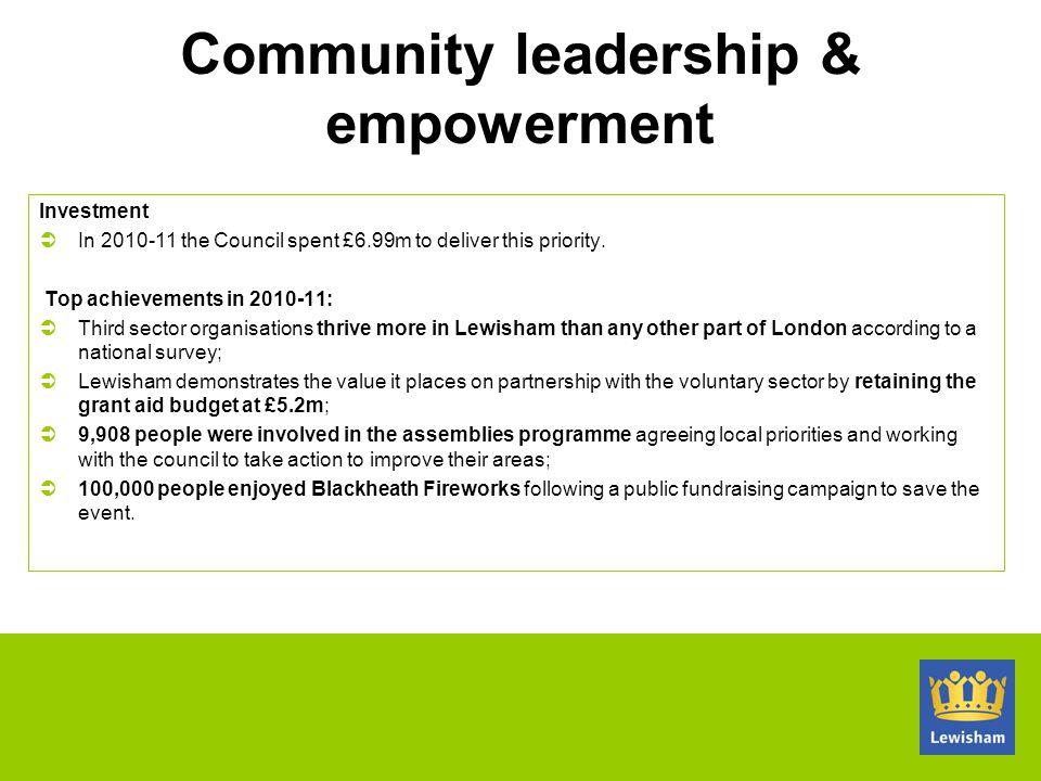 Community leadership & empowerment