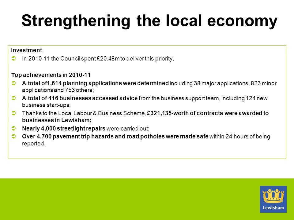 Strengthening the local economy