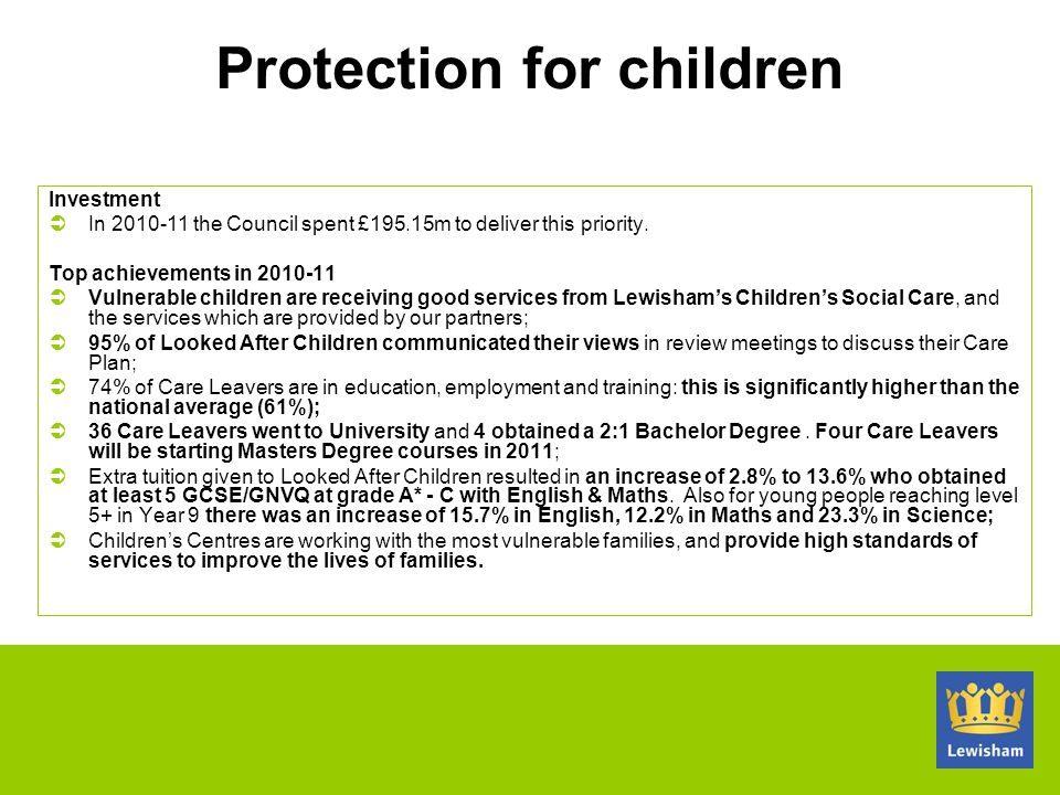 Protection for children