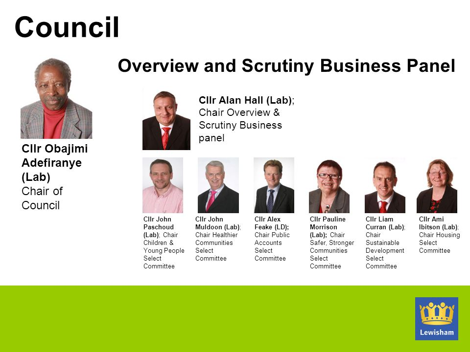 Overview and Scrutiny Business Panel