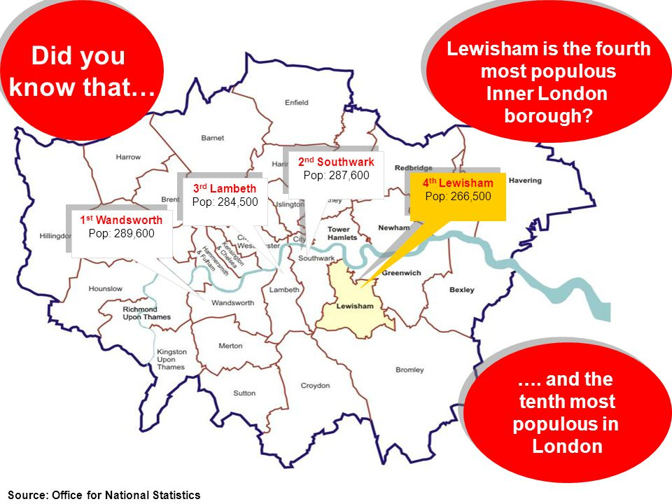 Did you know that… Lewisham is the fourth most populous Inner London