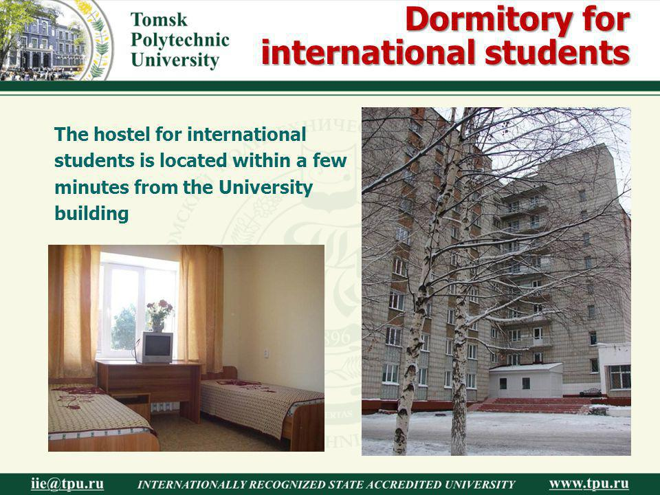 Dormitory for international students