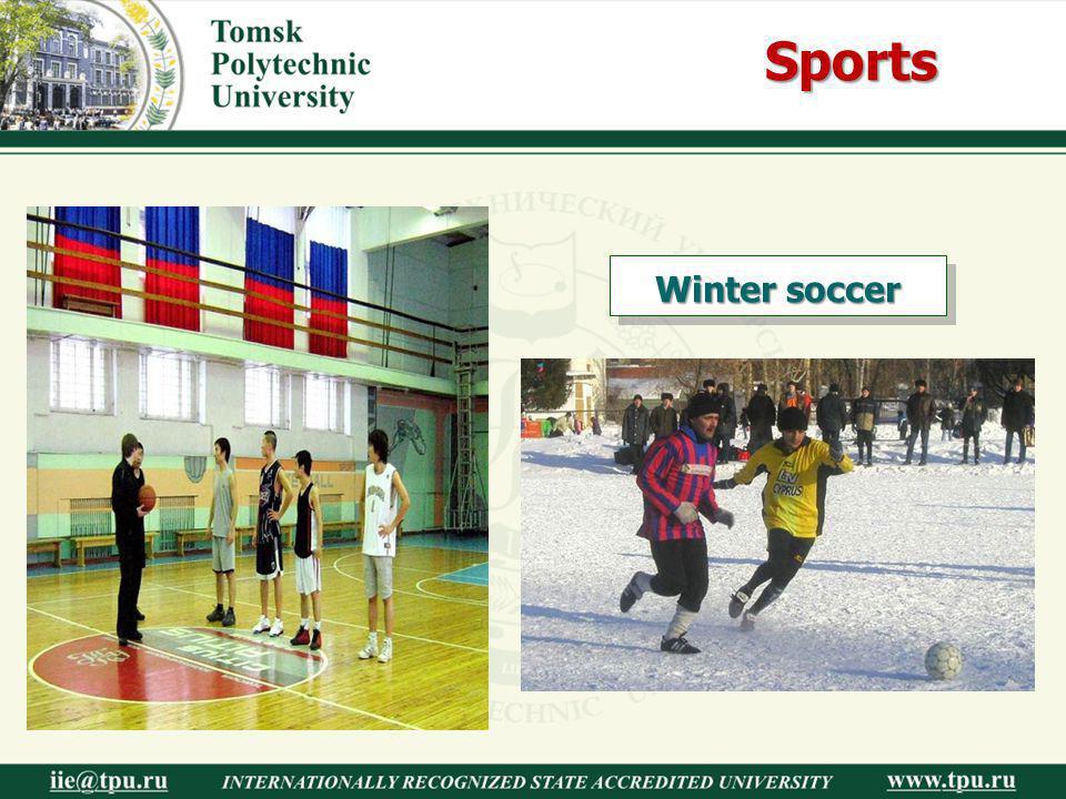 Sports Winter soccer