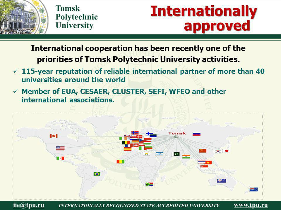 Internationally approved
