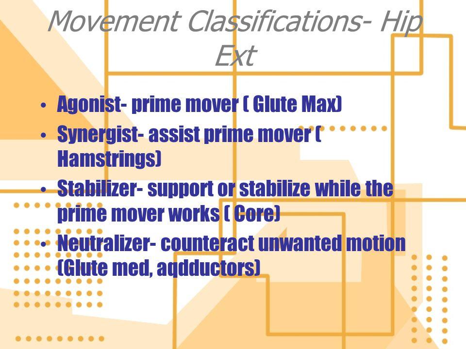 Movement Classifications- Hip Ext