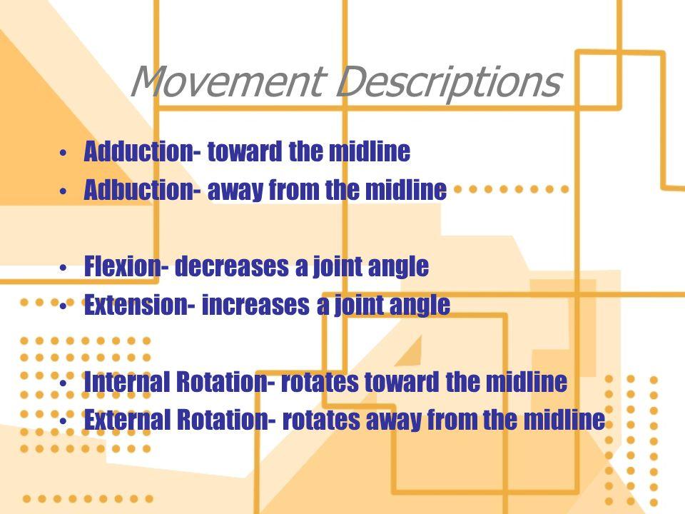 Movement Descriptions