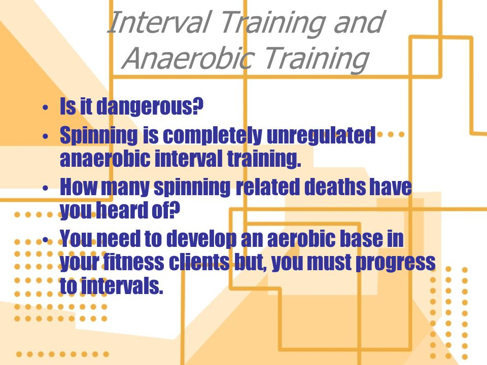 Interval Training and Anaerobic Training