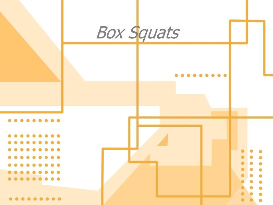 Box Squats