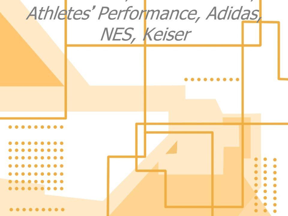 Thanks- TSI, Perform Better, Athletes' Performance, Adidas, NES, Keiser
