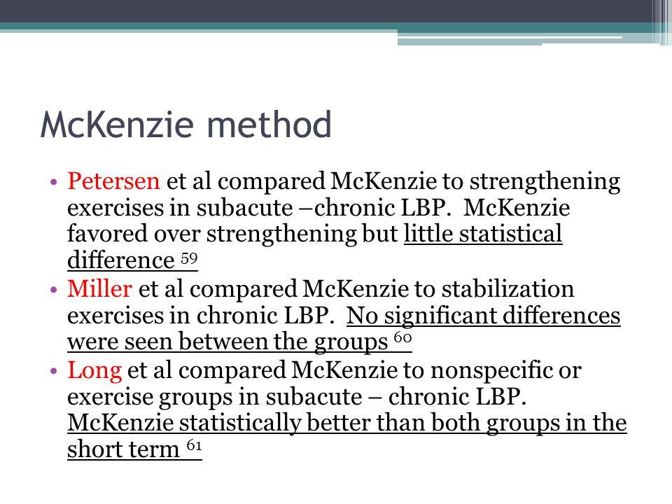 McKenzie method