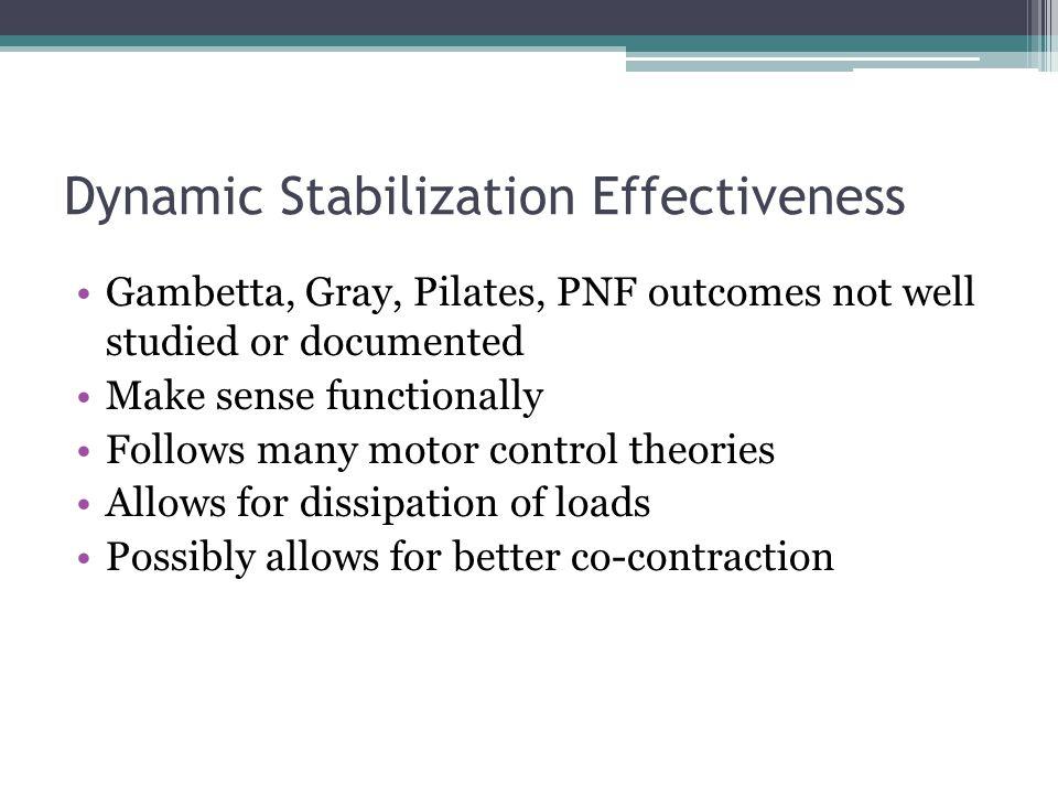 Dynamic Stabilization Effectiveness