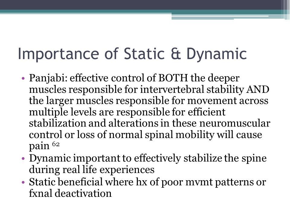Importance of Static & Dynamic