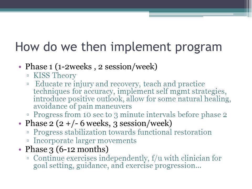 How do we then implement program
