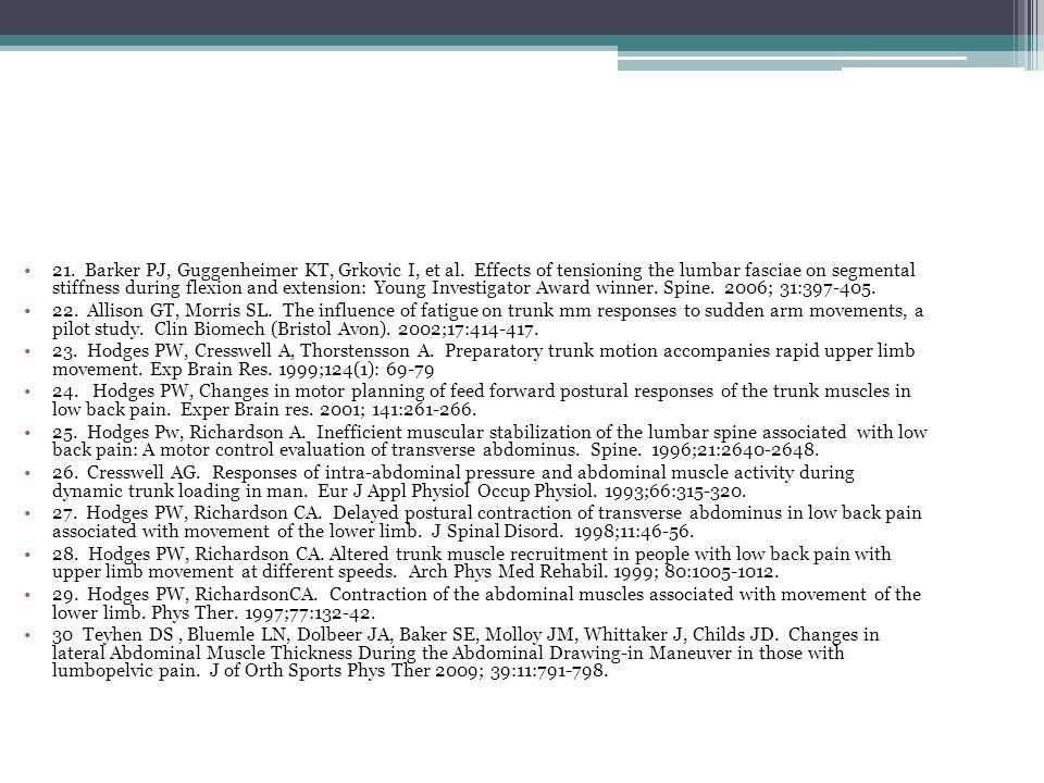 21. Barker PJ, Guggenheimer KT, Grkovic I, et al