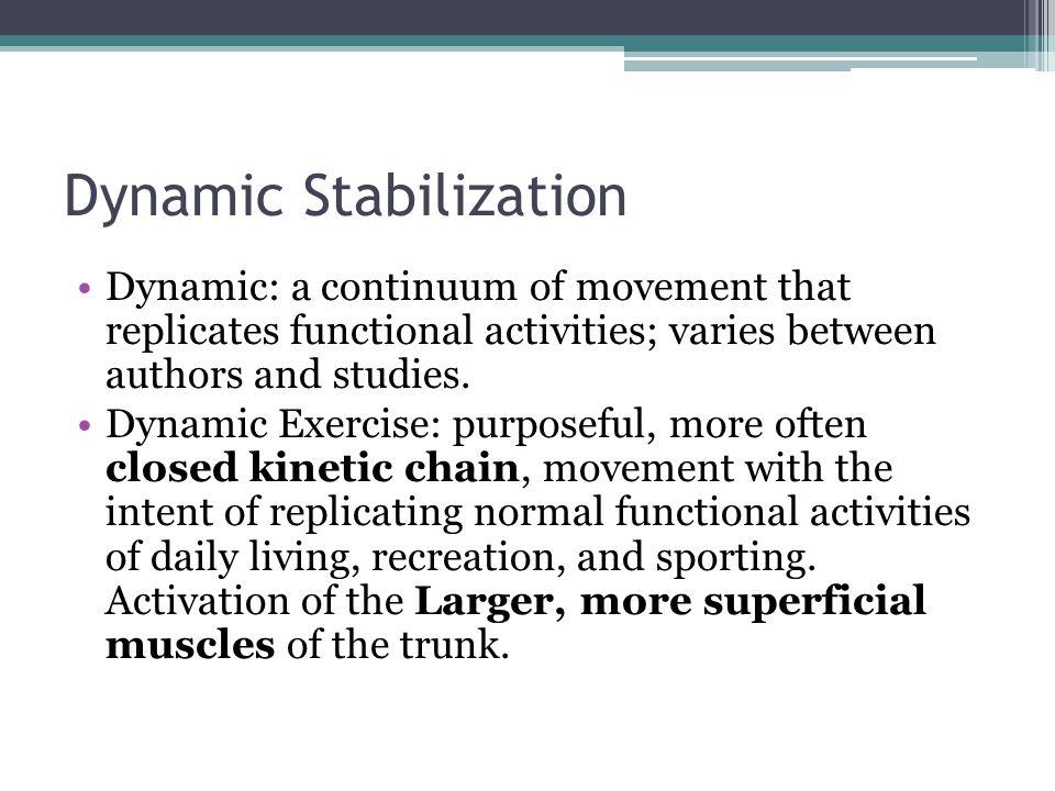 Dynamic Stabilization