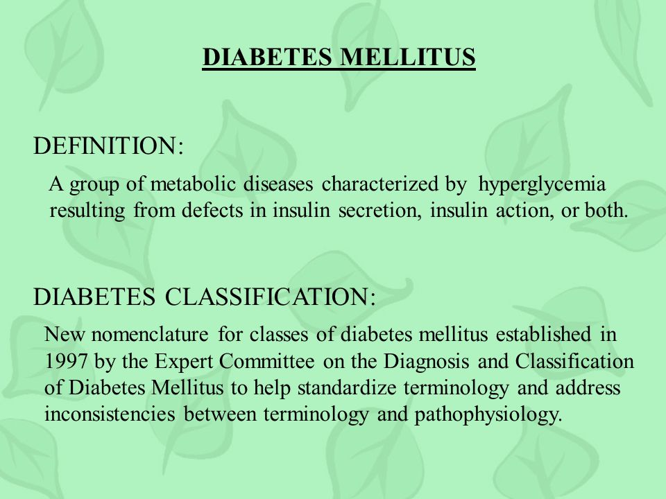 DIABETES CLASSIFICATION: