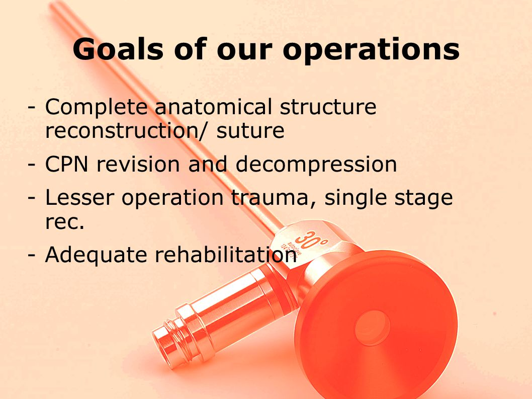 Goals of our operations