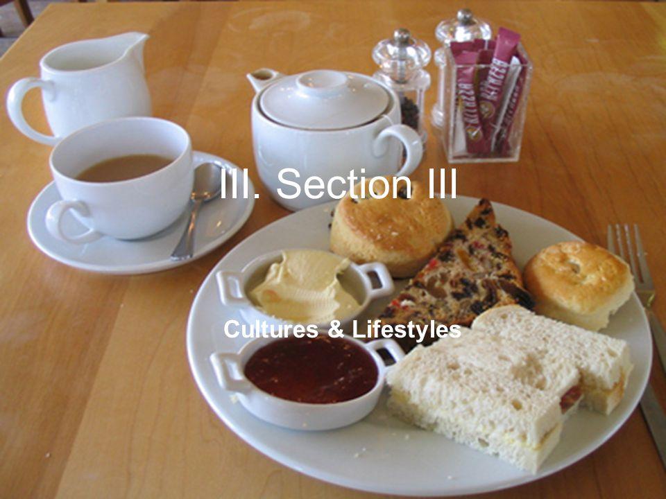 III. Section III Cultures & Lifestyles