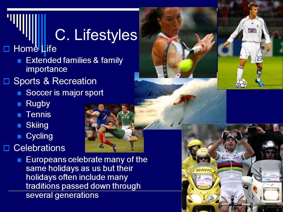 C. Lifestyles Home Life Sports & Recreation Celebrations
