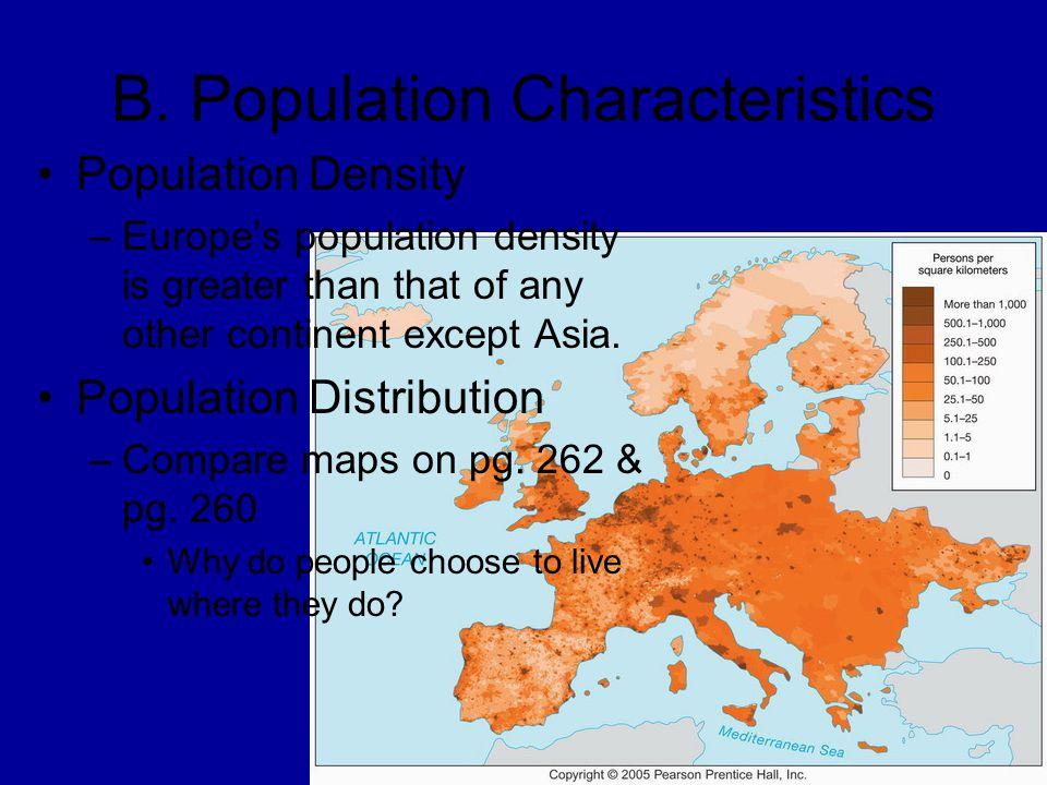 B. Population Characteristics