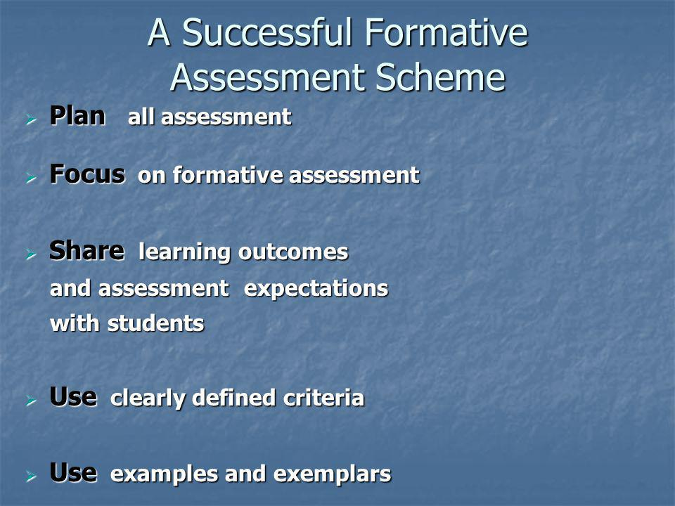 A Successful Formative Assessment Scheme
