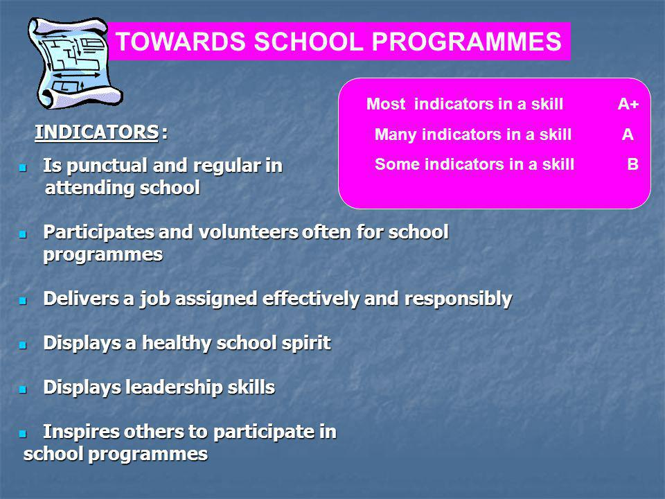 TOWARDS SCHOOL PROGRAMMES