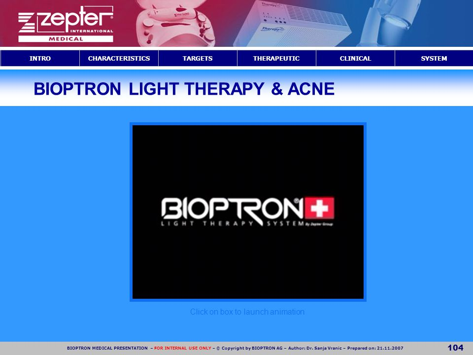 BIOPTRON LIGHT THERAPY & ACNE