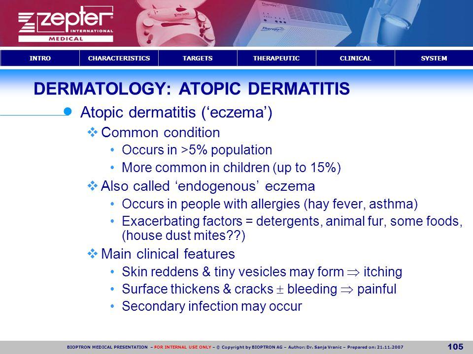 DERMATOLOGY: ATOPIC DERMATITIS