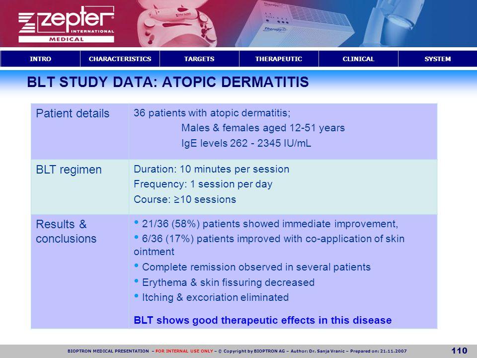 BLT STUDY DATA: ATOPIC DERMATITIS