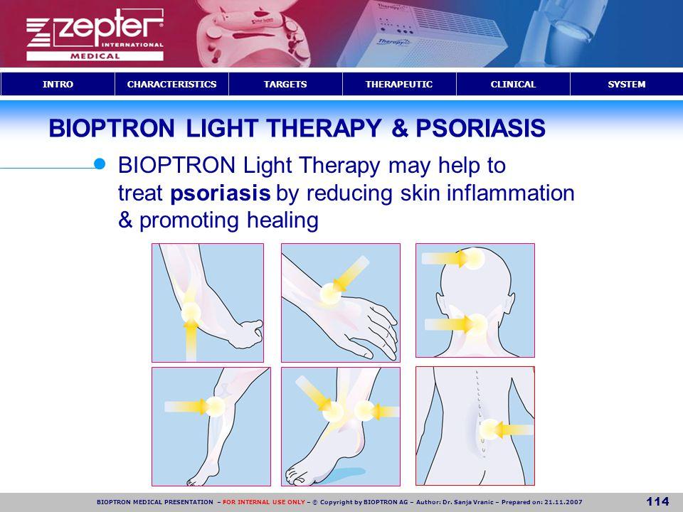 BIOPTRON LIGHT THERAPY & PSORIASIS