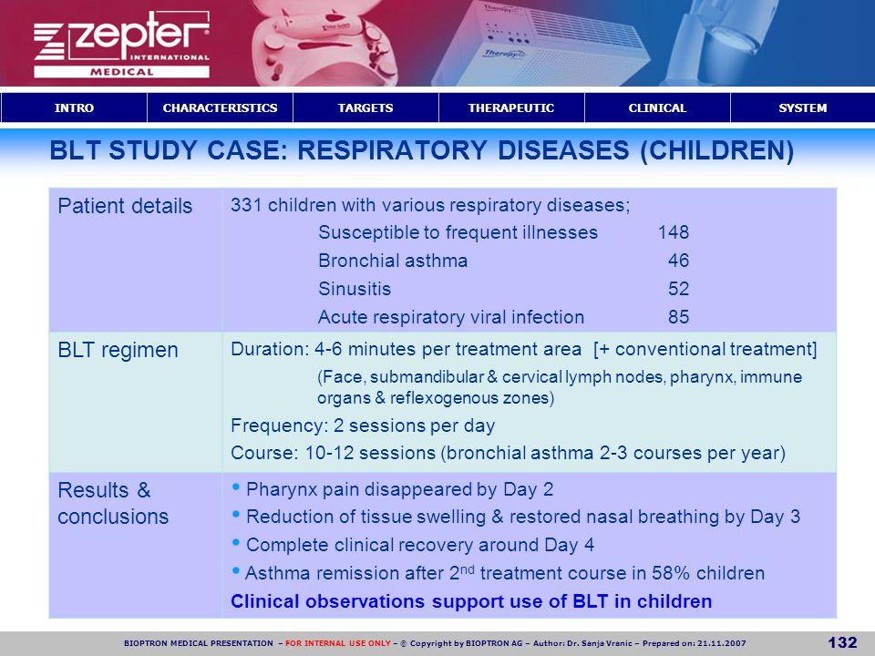 BLT STUDY CASE: RESPIRATORY DISEASES (CHILDREN)